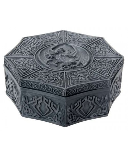 Celtic Dragon Octagonal Box at Mystic Convergence Metaphysical Supplies, Metaphysical Supplies, Pagan Jewelry, Witchcraft Supply, New Age Spiritual Store
