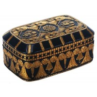 Scarab and Lotus Egyptian Revival Trinket Box