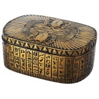 Winged Egyptian Revival Trinket Box
