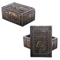 Isis Bronze Resin Jewelry Box