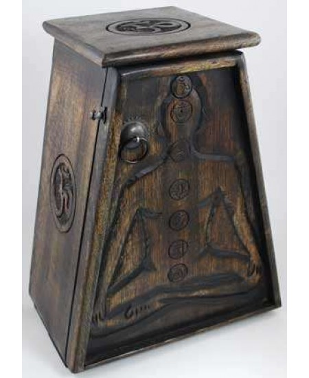 7 Chakra Wooden Cupboard at Mystic Convergence Metaphysical Supplies, Metaphysical Supplies, Pagan Jewelry, Witchcraft Supply, New Age Spiritual Store