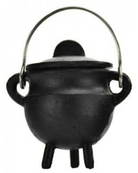 Plain Cast Iron Mini Cauldron with Lid Mystic Convergence Metaphysical Supplies Metaphysical Supplies, Pagan Jewelry, Witchcraft Supply, New Age Spiritual Store
