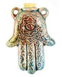 Hamsa Hand Raku Oil Bottle Necklace Mystic Convergence Metaphysical Supplies Metaphysical Supplies, Pagan Jewelry, Witchcraft Supply, New Age Spiritual Store
