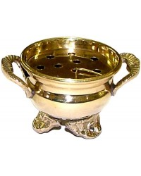 Brass Cauldron Incense Burner Mystic Convergence Metaphysical Supplies Metaphysical Supplies, Pagan Jewelry, Witchcraft Supply, New Age Spiritual Store