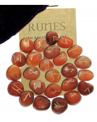 Carnelian Gemstone Rune Set Mystic Convergence Metaphysical Supplies Metaphysical Supplies, Pagan Jewelry, Witchcraft Supply, New Age Spiritual Store