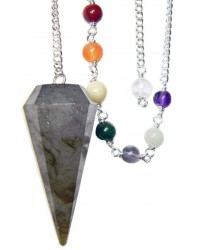 Labradorite and Chakra Scrying Pendulum Mystic Convergence Metaphysical Supplies Metaphysical Supplies, Pagan Jewelry, Witchcraft Supply, New Age Spiritual Store