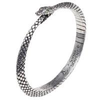 Sophia Serpent Ouroborus Pewter Bangle Bracelet