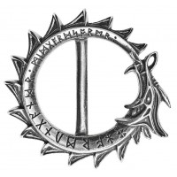 Jormungand World Serpent Ouroboros Pewter Belt Buckle