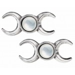 Triple Goddess Stud Earrings at Mystic Convergence, Wiccan Supplies, Pagan Jewelry, Witchcraft Supplies, New Age Store