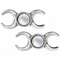 Triple Goddess Stud Earrings