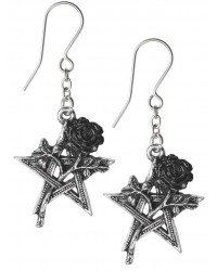 Ruah Vered Pentacle Rose Gothic Earrings