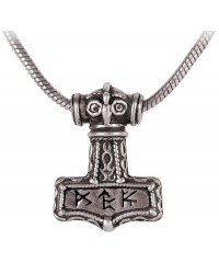 Bindrune Thors Hammer Pewter Necklace Mystic Convergence Metaphysical Supplies Metaphysical Supplies, Pagan Jewelry, Witchcraft Supply, New Age Spiritual Store