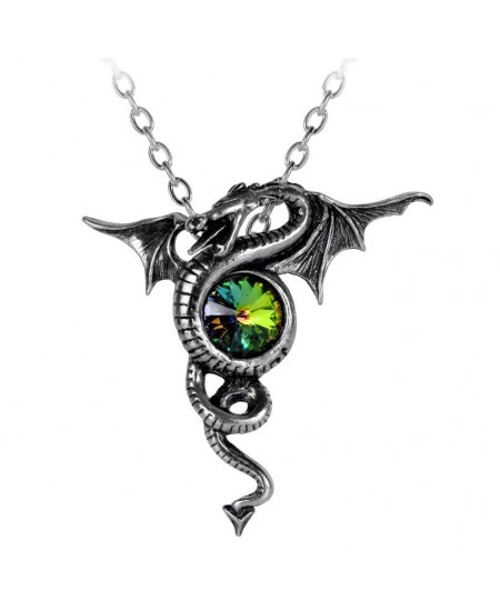 Anguis Aeternus Dragon Pewter Necklace at Mystic Convergence Metaphysical Supplies, Metaphysical Supplies, Pagan Jewelry, Witchcraft Supply, New Age Spiritual Store