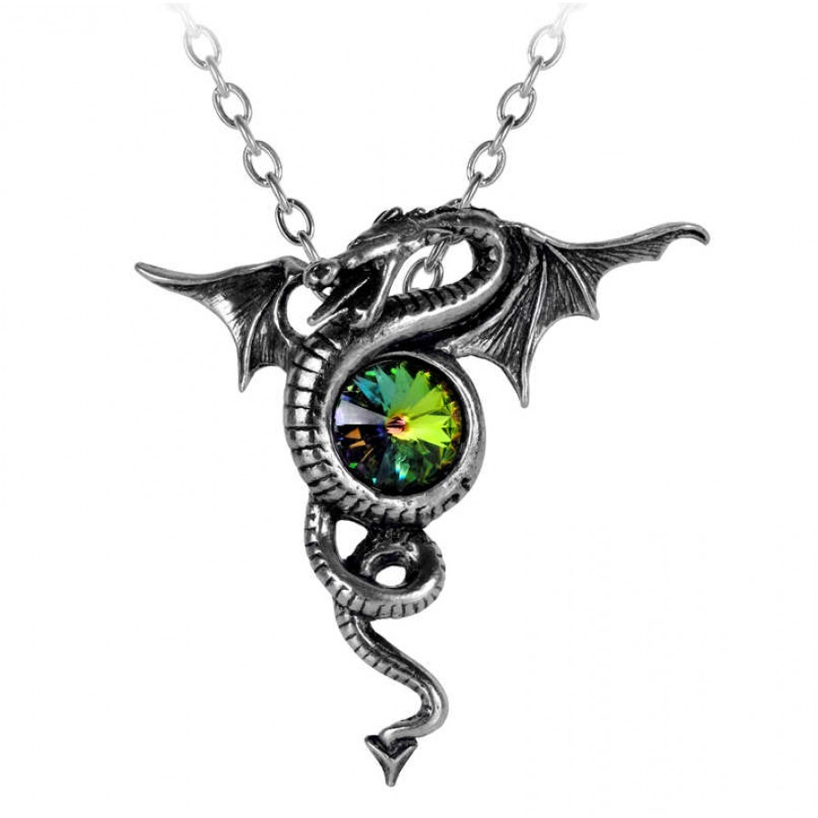 Anguis aeternus dragon pewter gothic jewelry necklace anguis aeternus dragon pewter necklace aloadofball Gallery
