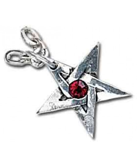 Crystal Pentagram Pewter Necklace at Mystic Convergence Metaphysical Supplies, Metaphysical Supplies, Pagan Jewelry, Witchcraft Supply, New Age Spiritual Store