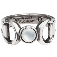 Triple Goddess Pewter Ring