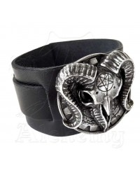 Gears of Aiwass Gothic Leather Strap Bracelet Mystic Convergence Metaphysical Supplies Metaphysical Supplies, Pagan Jewelry, Witchcraft Supply, New Age Spiritual Store