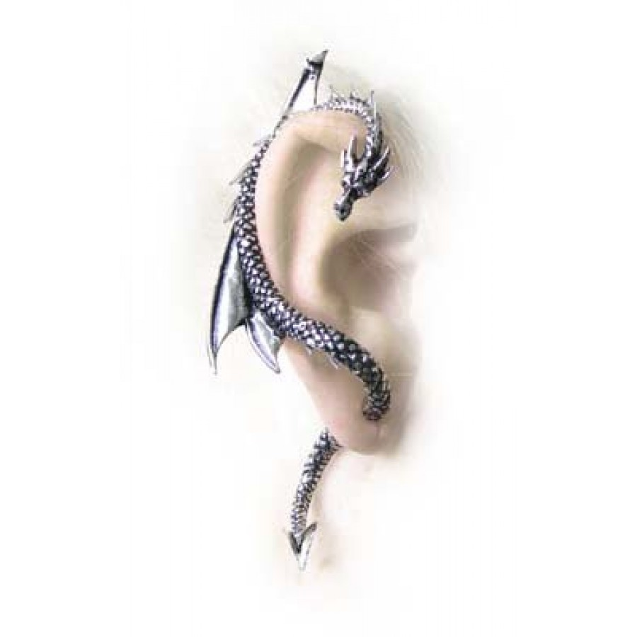 Dragons Lure Earring Wrap  Right Ear At Mystic Convergence, Wicca  Supplies, Pagan Jewelry