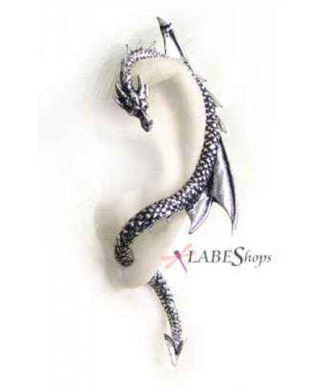 Dragons Lure Earring Wrap - Left Ear at Mystic Convergence Metaphysical Supplies, Metaphysical Supplies, Pagan Jewelry, Witchcraft Supply, New Age Spiritual Store
