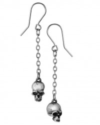 Deadskull Pewter Skull Drop Gothic Earrings Mystic Convergence Wiccan Supplies, Pagan Jewelry, Witchcraft Supplies, New Age Store