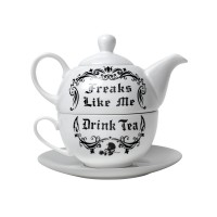 Freaks Like Me Tea Pot and Cup Set