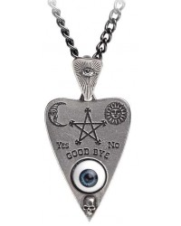 Mystical Ouija Board Planchette Pewter Necklace Mystic Convergence Metaphysical Supplies Metaphysical Supplies, Pagan Jewelry, Witchcraft Supply, New Age Spiritual Store