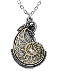 Fibonacci Golden Spiral Pewter Necklace
