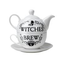 Witches Brew Cauldron Tea Pot and Cup Set