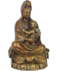 Kuan-Yin with Baby Large Bronze Statue Mystic Convergence Metaphysical Supplies Metaphysical Supplies, Pagan Jewelry, Witchcraft Supply, New Age Spiritual Store