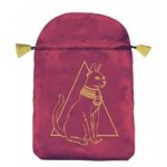 Egyptian Cat Satin Bag at Mystic Convergence Metaphysical Supplies, Metaphysical Supplies, Pagan Jewelry, Witchcraft Supply, New Age Spiritual Store