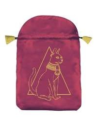 Egyptian Cat Satin Bag Mystic Convergence Metaphysical Supplies Metaphysical Supplies, Pagan Jewelry, Witchcraft Supply, New Age Spiritual Store
