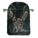 Fairy Tarot Green Satin Bag at Mystic Convergence Metaphysical Supplies, Metaphysical Supplies, Pagan Jewelry, Witchcraft Supply, New Age Spiritual Store