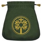 Celtic Green Velvet Tarot Bag at Mystic Convergence Metaphysical Supplies, Metaphysical Supplies, Pagan Jewelry, Witchcraft Supply, New Age Spiritual Store