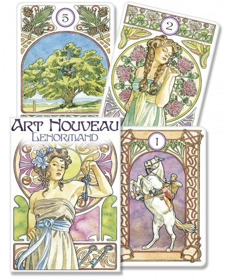 Art Nouveau Lenormand Oracle Cards at Mystic Convergence Metaphysical Supplies, Metaphysical Supplies, Pagan Jewelry, Witchcraft Supply, New Age Spiritual Store