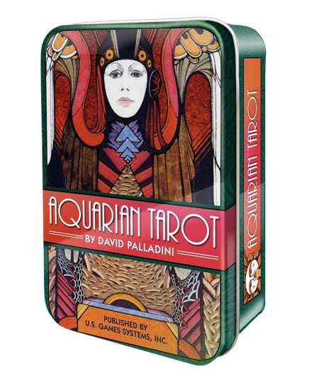 Aquarian Tarot Cards in a Tin at Mystic Convergence Metaphysical Supplies, Metaphysical Supplies, Pagan Jewelry, Witchcraft Supply, New Age Spiritual Store