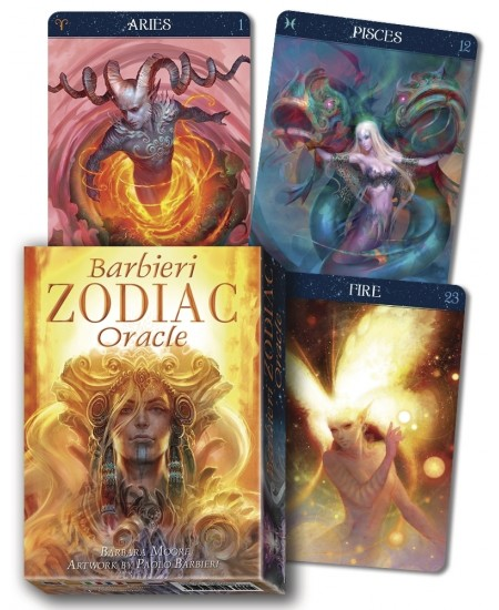 Barbieri Zodiac Oracle Cards at Mystic Convergence Metaphysical Supplies, Metaphysical Supplies, Pagan Jewelry, Witchcraft Supply, New Age Spiritual Store