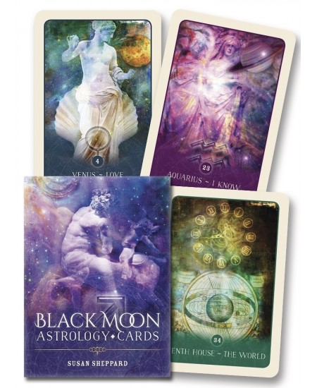 Black Moon Astrology Cards at Mystic Convergence Metaphysical Supplies, Metaphysical Supplies, Pagan Jewelry, Witchcraft Supply, New Age Spiritual Store