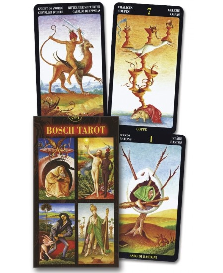 Bosch Tarot Card Deck - Multilingual Tarot Cards at Mystic Convergence Metaphysical Supplies, Metaphysical Supplies, Pagan Jewelry, Witchcraft Supply, New Age Spiritual Store