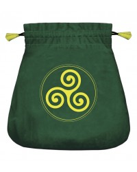 Celtic Triskel Velvet Bag Mystic Convergence Metaphysical Supplies Metaphysical Supplies, Pagan Jewelry, Witchcraft Supply, New Age Spiritual Store