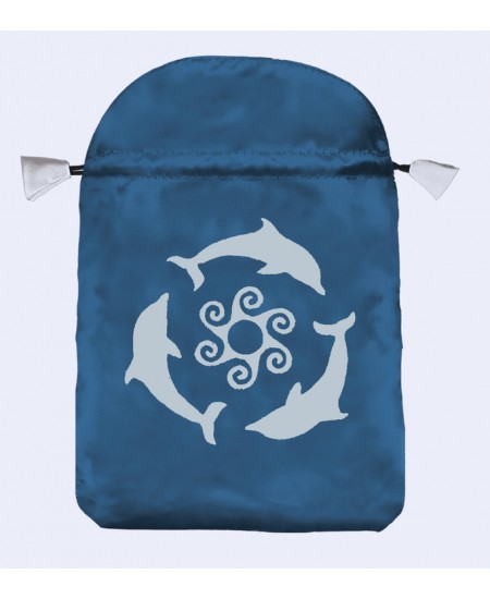 Dolphins Tarot Bag at Mystic Convergence Metaphysical Supplies, Metaphysical Supplies, Pagan Jewelry, Witchcraft Supply, New Age Spiritual Store