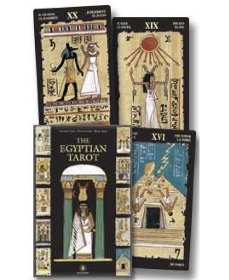 Egyptian Tarot Cards Boxed Kit at Mystic Convergence Metaphysical Supplies, Metaphysical Supplies, Pagan Jewelry, Witchcraft Supply, New Age Spiritual Store