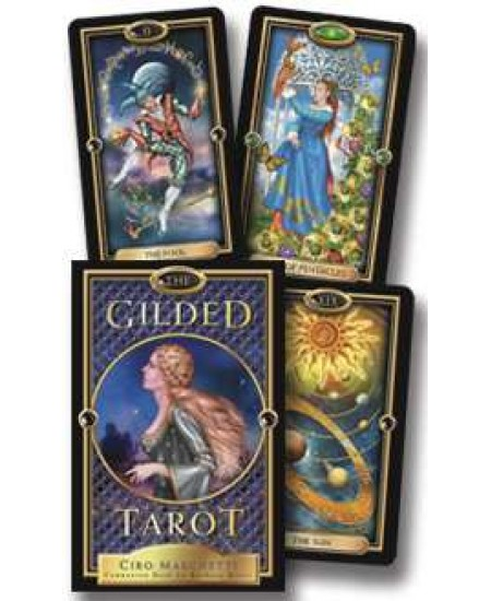 Gilded Renaissance Style Tarot Card Deck and Book Set at Mystic Convergence Metaphysical Supplies, Metaphysical Supplies, Pagan Jewelry, Witchcraft Supply, New Age Spiritual Store