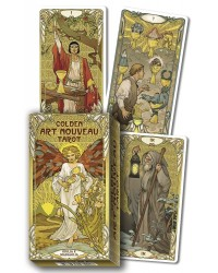 Golden Art Nouveau Tarot Cards Mystic Convergence Metaphysical Supplies Metaphysical Supplies, Pagan Jewelry, Witchcraft Supply, New Age Spiritual Store