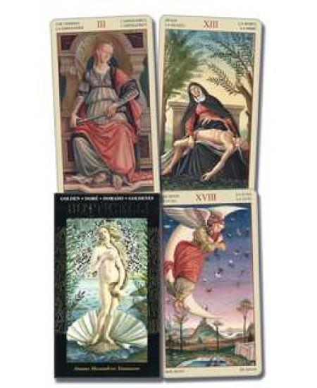 Golden Botticelli Renaissance Art Tarot Deck at Mystic Convergence Metaphysical Supplies, Metaphysical Supplies, Pagan Jewelry, Witchcraft Supply, New Age Spiritual Store