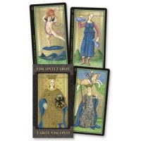 Golden Tarot of Visconti Grand Trumps Italian Tarot Deck