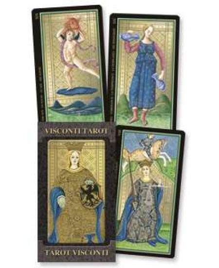 Golden Tarot of Visconti Grand Trumps Italian Tarot Deck at Mystic Convergence Metaphysical Supplies, Metaphysical Supplies, Pagan Jewelry, Witchcraft Supply, New Age Spiritual Store