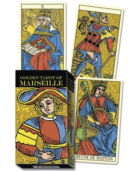 Golden Marseille Tarot Cards at Mystic Convergence Metaphysical Supplies, Metaphysical Supplies, Pagan Jewelry, Witchcraft Supply, New Age Spiritual Store