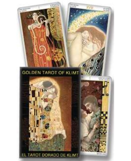 Golden Tarot of Klimt Tarot Cards at Mystic Convergence Metaphysical Supplies, Metaphysical Supplies, Pagan Jewelry, Witchcraft Supply, New Age Spiritual Store