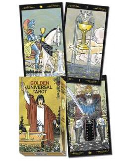 Golden Universal Tarot Card Deck at Mystic Convergence Metaphysical Supplies, Metaphysical Supplies, Pagan Jewelry, Witchcraft Supply, New Age Spiritual Store