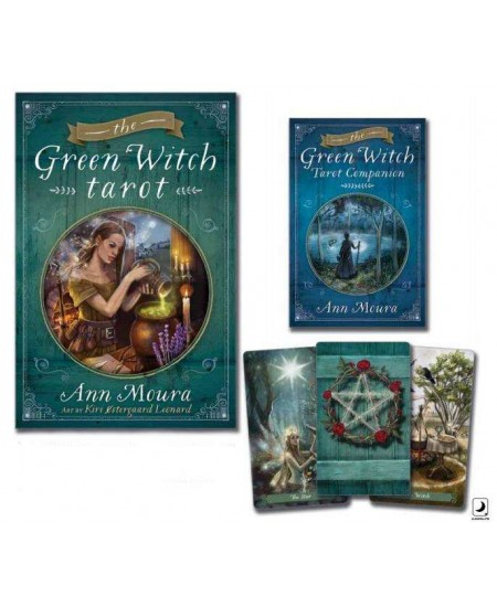Green Witch Tarot Card Boxed Set at Mystic Convergence Metaphysical Supplies, Metaphysical Supplies, Pagan Jewelry, Witchcraft Supply, New Age Spiritual Store